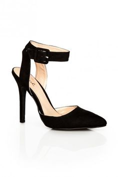 D'Orsay Ankle Strap Pump in Black