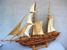 Clipper-Schooner 'NEWPORT' XIX c. Scratch-Built Ship Model