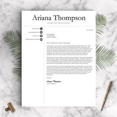 Professional Resume Template for Word and Pages: The Thompson   - Instant Download Resume Template  - US Letter and A4 CV Templates included  - Mac & PC Compatible using Microsoft Word and Mac Pages  - COMPLETELY CUSTOMIZABLE templates: Change fonts, colors, headings, or add/delete sections  - - - - - - - - - - - - - - - - - - - - - - At Landed Design Studio, my goal is to ensure you land the job with resumes that look great, showcase your most important information front and center, and…