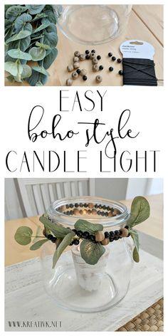 easy nordic boho style candle light kreativk.net