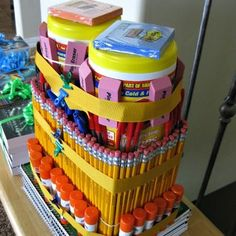 Clean it up School Supply Cake