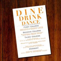 Custom Signature Drink Menu For Your Wedding Two X Menus On
