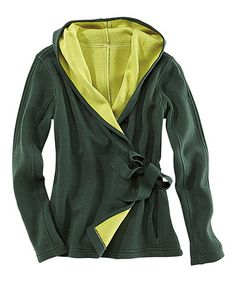 Look what I found on #zulily! Evergreen & Fern Wrap-It-Up Wool-Blend Hoodie by Title Nine #zulilyfinds