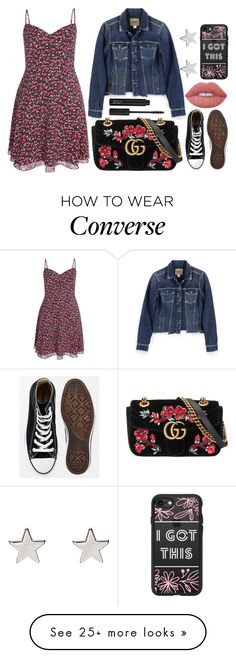 """Zoe Murphy"" by lottie2004 on Polyvore featuring Paige Denim, Converse, Gucci, Lime Crime, Casetify, Jennifer Meyer Jewelry, musical, dearevanhansen and zoemurphy"