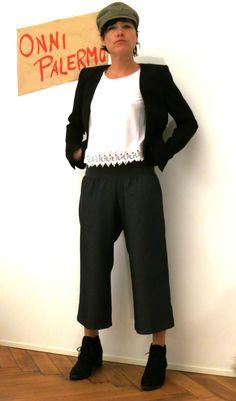 Jeans  Culotte,  Jeans Hosenrock, 3/4 Jeans, Jeans mit weiten Beinen, blaue Jeans für Frauen, bequeme Jeans Frauen,  Jeanshose Frauen von OnniPalermo auf Etsy