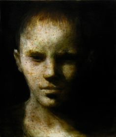 "Maya Kulenovic HIS FATHER'S SON, 2005, oil on canvas, 26""X22"""
