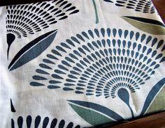 Dandelion Fabric Craft Fabric Cotton Fabric Blue by IngliVintage