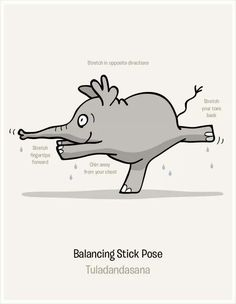 Hot Yoga Elephant tuladandasana warrior III