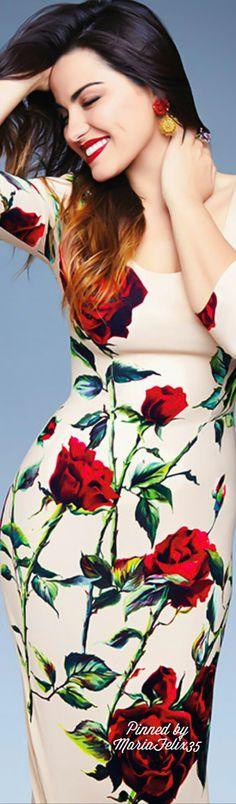"petitbonbon05: ""Maite Perroni for Glamour Magazine Mexico in Dolce & Gabbana """