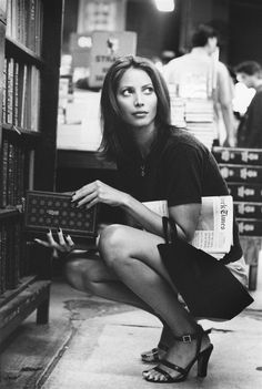 Christy Turlington browses at the Strand bookstore in Manhattan.
