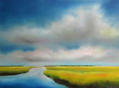 Love this oil painting from UGallery. Summer Sky Marsh I by Nancy Hughes Miller
