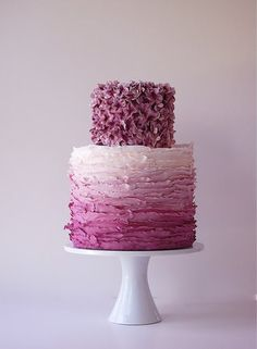 Sophie: ombre wedding cake. @sophie