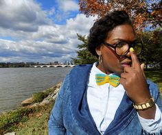 Who said bowties are only for men?? Get your #customized #handmade #crochet #bowties and other unique items from the #FAMEousJ #etsy shop at www.FAMEousJ.etsy.com!  Photography: @chaneljaali   Model: @limahmae   #bowtie #bowtiesarecool #bowtiesociety #crochetbowtie #crochetbowties #suitaccessories #crochettie #welldressedmen #crochetnecktie #bespoke #crochetaccessories #crochetclothing #customcrochet #mensaccessories #dapperwomen #bowtiesforwomen