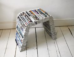 newpaper recycled chair
