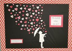 Valentines,  His love rains on us. John 3:16 . Bulletin board