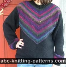 ABC Knitting Patterns - Raglan Sleeve Sweater with Turtleneck Collar .