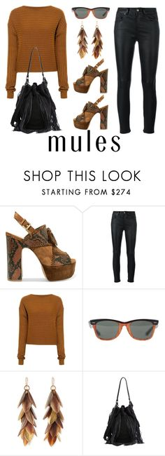 """Gotta Make A Mule Run by D.Shaw"" by b-signature-dshaw ❤ liked on Polyvore featuring Ash, Yves Saint Laurent, TIBI, Ray-Ban, Ashley Pittman, Loeffler Randall, Leather, suede, snakeskin and slingback"