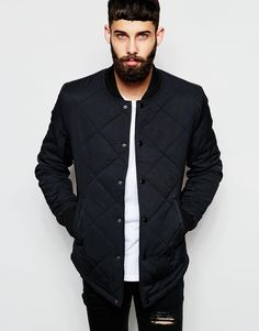 River Island Quilted Bomber Jacket