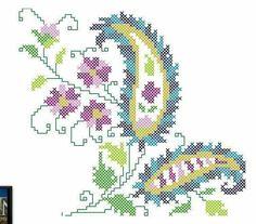 Cross Stitch Letters, Cross Stitch Flowers, Tapestry Crochet, Bargello, Paisley Pattern, Cross Stitch Embroidery, Stitch Patterns, Needlework, Embroidery Designs