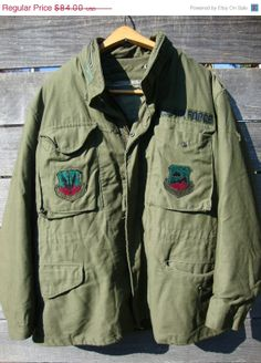 Sale Vintage Military M65 Air Force  Lined Field by Simplemiles, $57.40