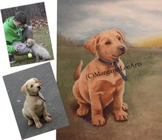 CUSTOM PET PORTRAIT: a personalized dog or puppy oil painting from your original photo - This is Murphy Puppy!