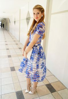 Floral Crop Top and Skirt Set