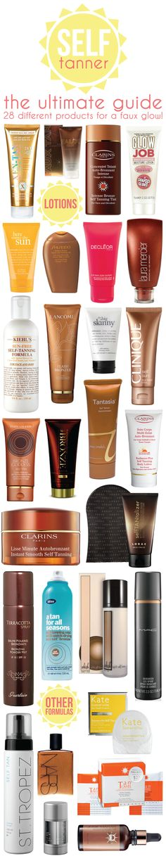 the ultimate guide: 28 self tanners.