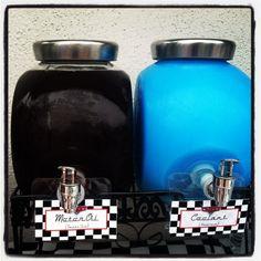 "Disney Cars theme birthday party! ""Motor Oil (sweet tea) & Coolant (kool-aid)"""