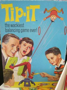 Tip-It Game (1965) An easy game to replicate using recyclable and other items around your house.