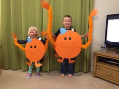 Our final result, super simple and the kids joined in! Mr Tickle for world book day