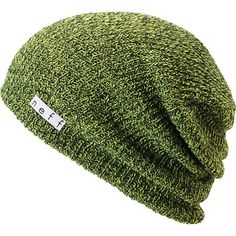 01db6f54071 Neff Daily Heather Black   Neon Green Beanie