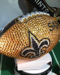 "832f91b5de56 Sparkle Custom Heels on Instagram  ""Sparklecustomheels.com  saints   rhinestoneheels  neworleanssaints  football  neworleans  affordableluxury   heels ..."