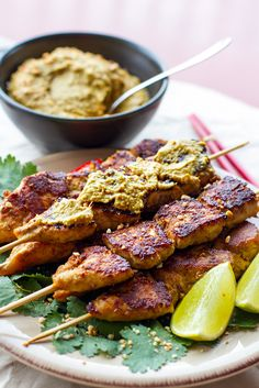 These paleo satay chicken skewers are made with homemade satay sauce that uses cashew nuts instead of peanuts. Onf of my favourite paleo chicken recipes. Chicken Satay, Chicken Skewers, Tapas, Asian Recipes, Whole Food Recipes, Healthy Recipes, Easy Recipes, Grilling Recipes, Cooking Recipes
