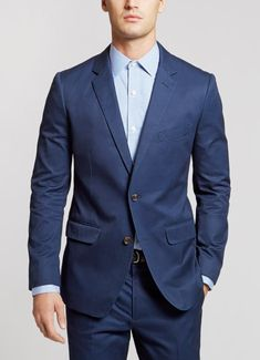 All of the great fit and timeless versatility of our Italian wool Foundation suit is now available in breathable cotton.