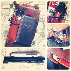 Midori Traveler's Notebook, BookBook iPhone case, Kaweco, Pilot Capless