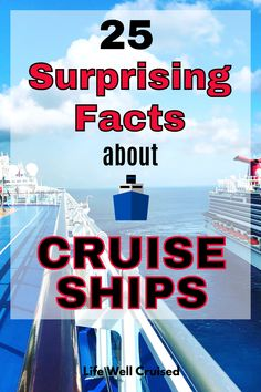 Cruise ships are pretty amazing, but it might surprise you to know some of these cool and weird facts. Do cruise ships have morgues for instance? Here are 25 awesome cruise facts so you can test our your cruise trivia knowledge. Great for cruise lovers and first time cruisers! Cruise Packing Tips, Cruise Travel, Cruise Vacation, Cruise Ship Reviews, Best Cruise Ships, Carnival Cruise Ships, How To Book A Cruise, Norwegian Cruise Line, Cruise Destinations