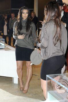 black skirt kim kardashian