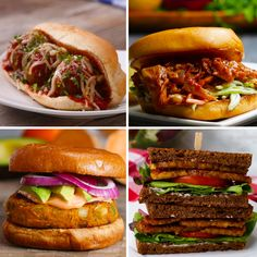 Vegetarian Sandwiches 4 Ways | Recipes