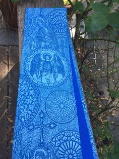 A personal favorite from my Etsy shop https://www.etsy.com/listing/459689398/reversible-blue-clergy-stole-with-angels