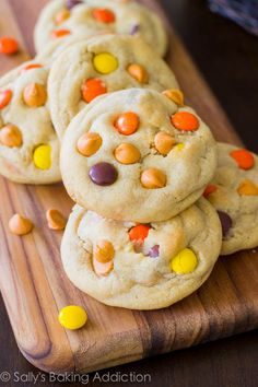 Soft-Baked Reese's Pieces Butterscotch Cookies sallysbakingaddiction.com @Sally M. [Sally's Baking Addiction]