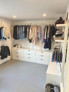 Design Room, My New Room, My Room, Ikea Nordli, Closet Bedroom, Walk In Closet, Kitchen Flooring, Room Inspiration, Ikea Hacks
