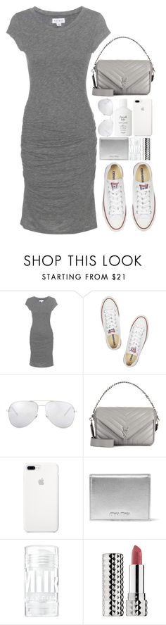 """""""Classic Kicks"""" by hollowpoint-smile ❤ liked on Polyvore featuring Velvet, Converse, Yves Saint Laurent, Miu Miu, Sephora Collection and Fresh"""