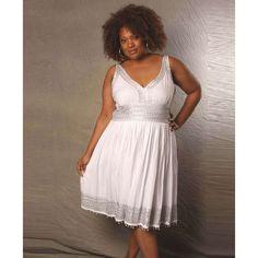 short plus size white dress - Bing Images   Wedding bliss ...