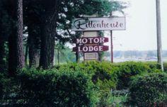 To stay at a retro roadside motel. Rittenhouse Motor Lodge Cape Charles VA.
