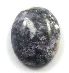 NATURAL LEPIDOLITE 16x21MM oval cabochon gemstone for jewelry making, 15.35CTS #Handmade