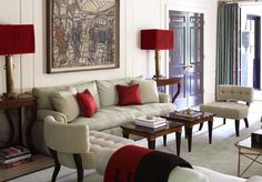 beige and red #interior #design #decoration