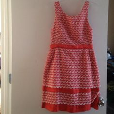 Anthropologie Leifsdottir Sweet Tangelo Dress 4 NO TRADES OR LOWBALL OFFERS. Pretty embroidery with beaded detail on back Anthropologie Dresses