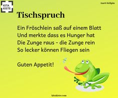 Tableclash / rhymes on the theme Tischspruch / Reime zum Thema Table speech / rhymes on the topic - Kindergarten Lunch, Kindergarten Portfolio, Toddler Preschool, Spelling, Decir No, Told You So, Songs, Teaching, Children