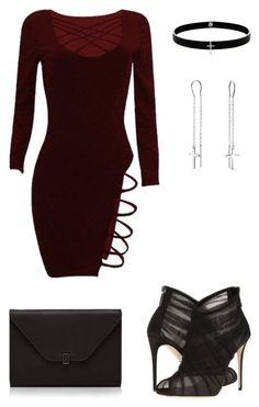 Sexy Burgundy Dress by rebecca-shosey on Polyvore featuring Dolce&Gabbana, Valextra, Lynn Ban and Bling Jewelry