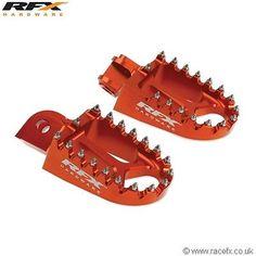 RFX Wide Foot Pegs KTM SX SXF EXC 65/125/200/250/350/400/450/525 00-13 Footrests